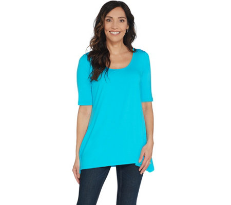 Linea by Louis Dell'Olio Short Sleeve Swing Top