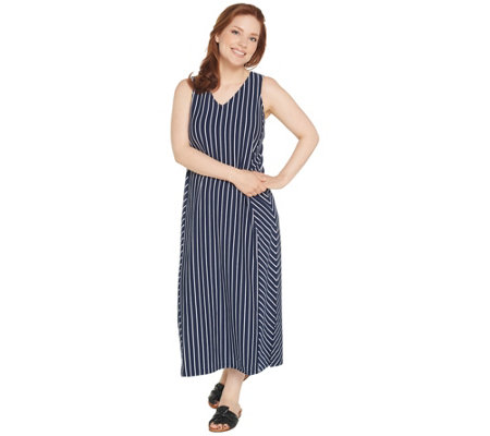 Anybody Petite V Neck Cozy Knit Maxi Dress
