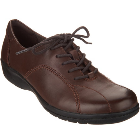 """As Is"" Clarks Leather Lace-up Shoes- Cheyn Ava"