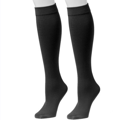78ded13ca24 MUK LUKS Women s Fleece-Lined Knee-High Socks 2-Pair Pack - Page 1 ...
