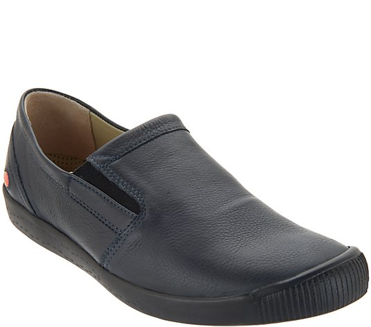 Softinos by FLY London Leather Slip-on Shoes - Ika