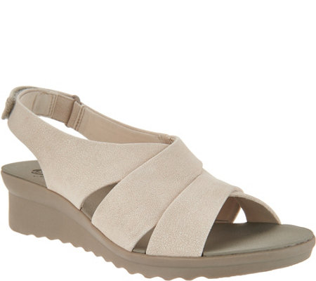 As Is Cloudsteppers By Clarks Wedge Sandals Caddell Bright