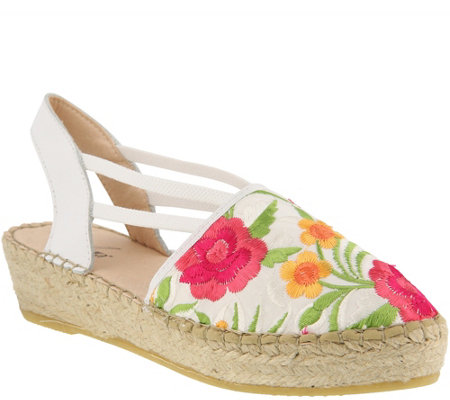 Azura by Spring Step Canvas and Leather Espadrilles - Haleema