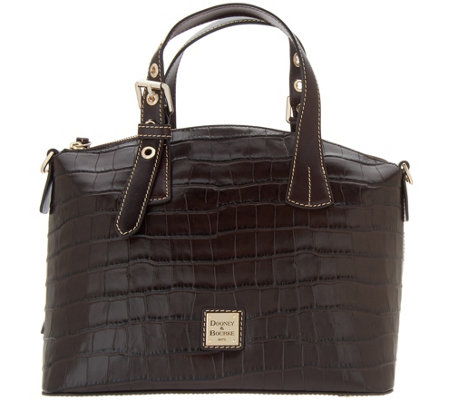 As Is Dooney Bourke Croco Embossed Leather Trina Satchel