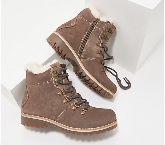 Earth Water Resistant Lace-Up Boot with Faux Fur - Ranger Acadia