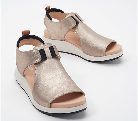 Dr. Scholl's Leather Wedge Sandals - Rocco