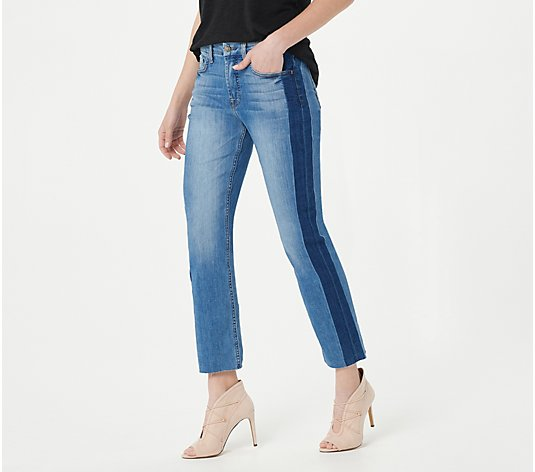 JEN7 by 7 For All Mankind Ankle Straight with Shadow Seam