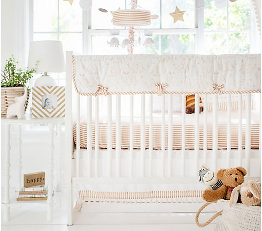 My Baby Sam Heart of Gold 9-Piece Crib BeddingSet
