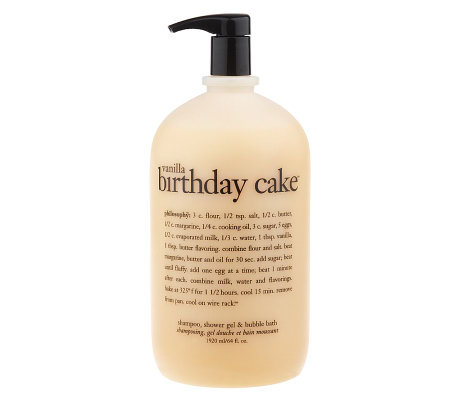 Philosophy 64 Oz Vanilla Birthday Cake 3 In 1 Gel Family Favorite
