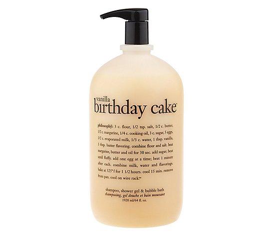 Phenomenal Philosophy 64 Oz Vanilla Birthday Cake 3 In 1 Gel Family Favorite Birthday Cards Printable Giouspongecafe Filternl
