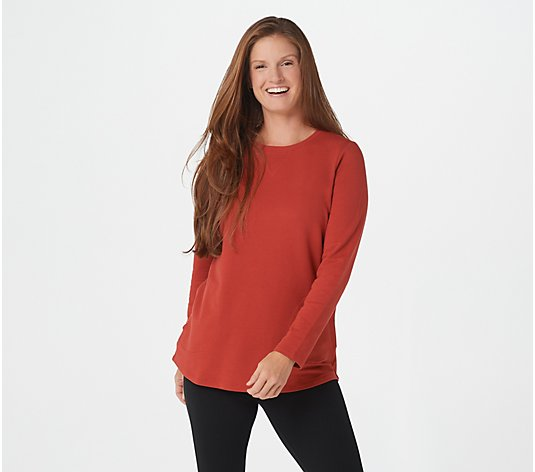 Denim & Co. Active Petite French Terry Tunic