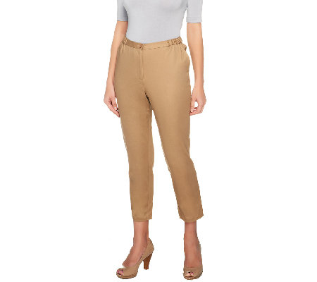 Linea by Louis Dell'Olio Cotton Sateen Ankle Pants