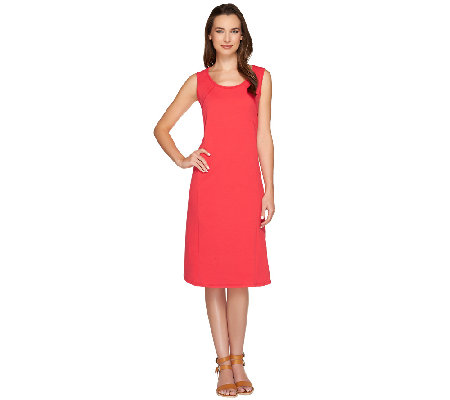 Susan Graver Weekend French Terry Sleeveless Dress