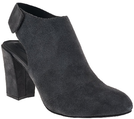 """As Is"" Adam Tucker Suede Ankle Booties - Jenna"