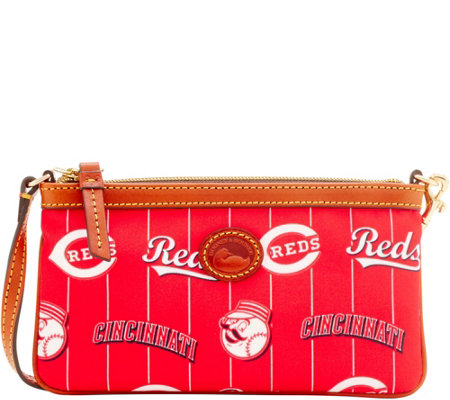 Dooney & Bourke MLB Nylon Reds Large Slim Wristlet