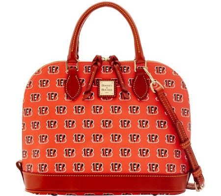 Dooney & Bourke NFL Bengals Zip Zip Satchel