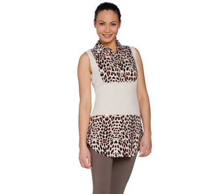 Kathleen Kirkwood Dictrac-Ease Rayon Spandex Collar Camisole