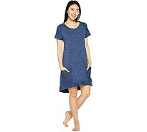 AnyBody Loungewear Cozy Knit French Terry Dress - A290140