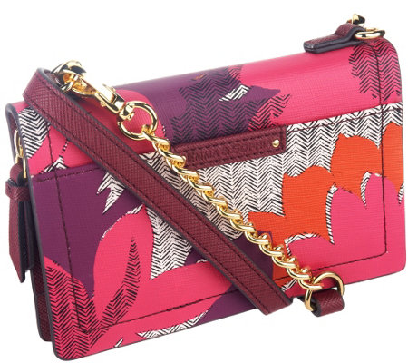 """As Is"" Emma & Sophia Printed Leather Crosby Phone/Wallet Crossbody Bag"