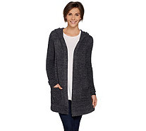 Barefoot Dreams Cozychic Lite Resort Cardi with Hood - A293840