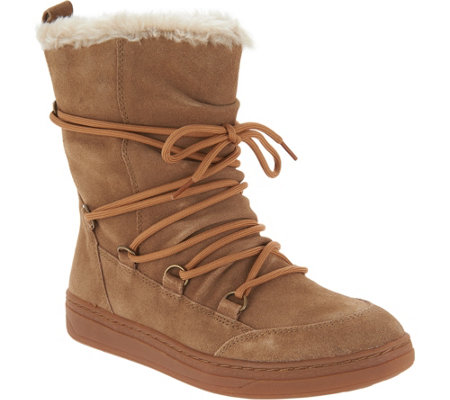 Earth Water Resistant Suede Winter Boots - Zodiac