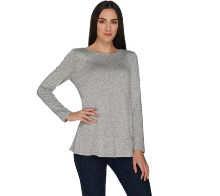 H by Halston Super Soft Knit Boatneck Longsleeve Top