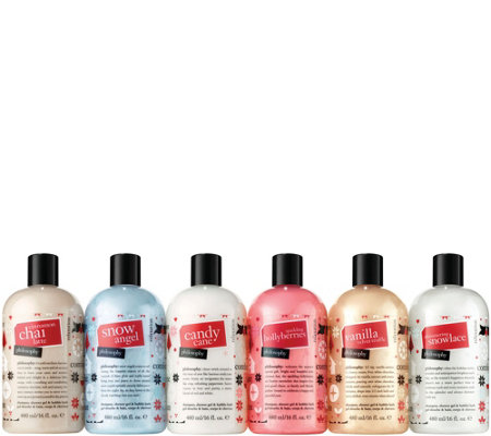 philosophy limited edition 6-piece holiday shower gel kit
