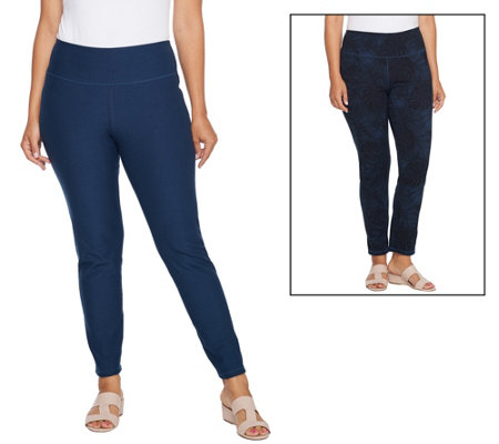 As Is Women With Control Petite Tummy Control Ankle Pants