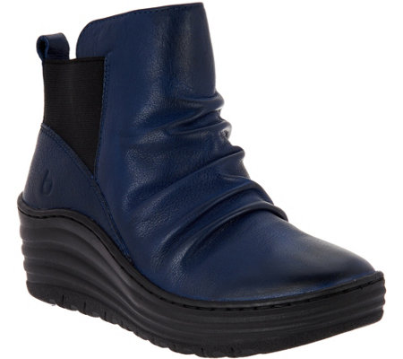 Bionica Leather Wedge Ankle Boots - Gilford