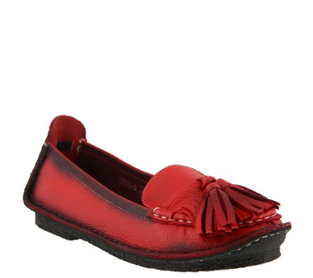 L'Artiste by Spring Step Leather Slip-Ons - Lolita