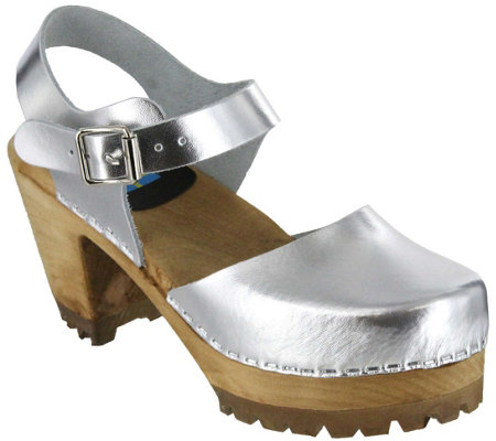 Mia Shoes Leather Clogs Abba