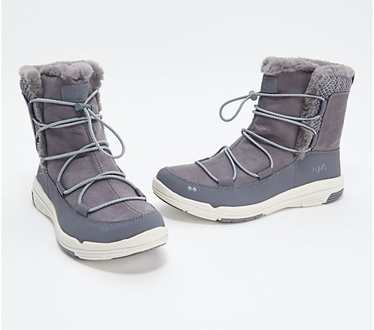 Ryka Water-Repellent Faux Fur Bungee Boots - Aubonne