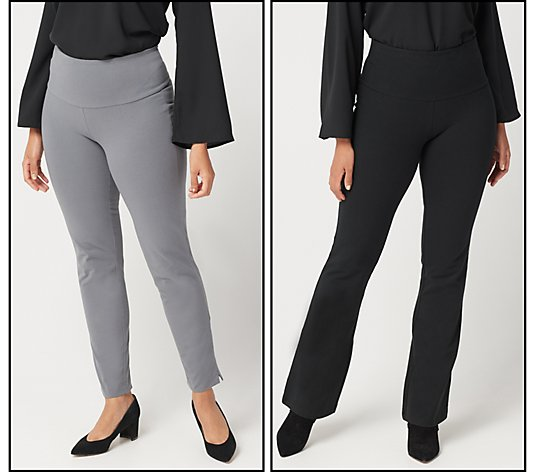 """As Is"" Women with Control Regular Tummy Control Set of 2 Pants"