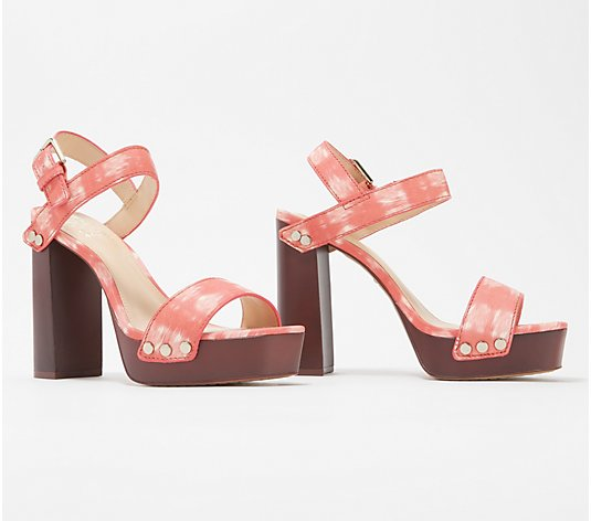 Vince Camuto Leather Platform Heeled Sandals - Lethalia