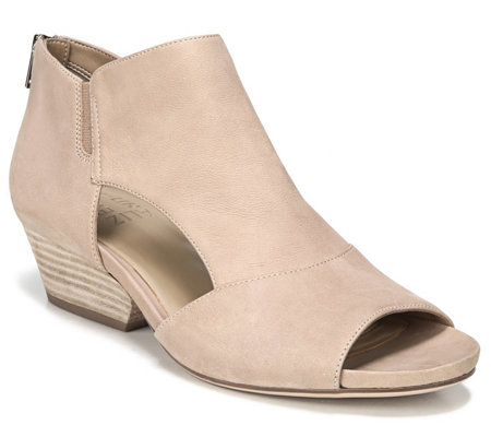 Naturalizer Open Toe Suede Booties - Greyson