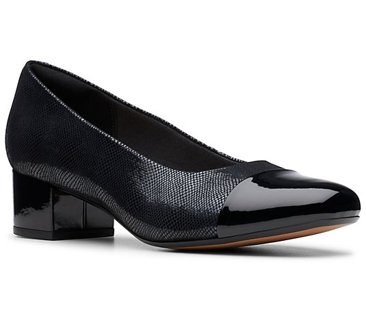 Clarks Collection Women's Blocked Heeled Pumps- Chartli Diva