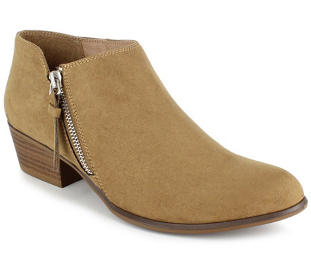 Esprit Side-Zip Faux Leather Booties - Troy