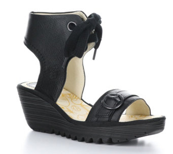 Fly London Leather Rubber Heel Sandals - Yaje - A536240