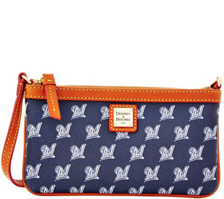 Dooney & Bourke MLB Brewers Large Slim Wristlet