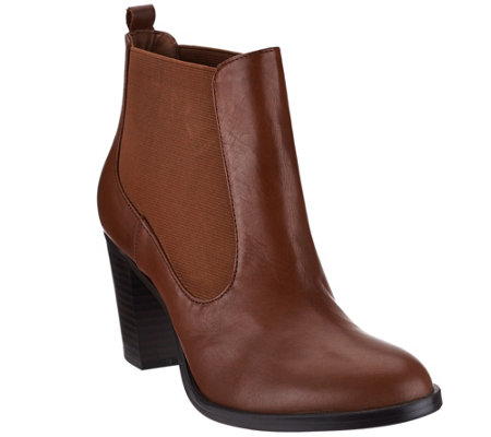 """As Is"" Isaac Mizrahi Live! Leather Boots with Goring"