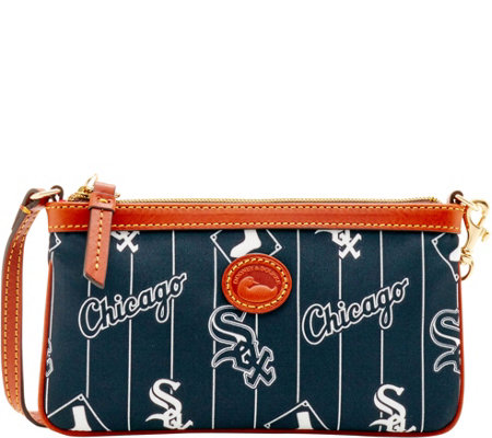 Dooney & Bourke MLB Nylon White Sox Large Slim Wristlet