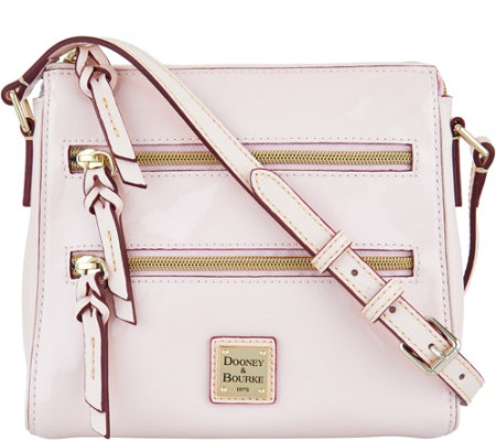 Dooney & Bourke Patent Leather Peyton Triple Zip Crossbody