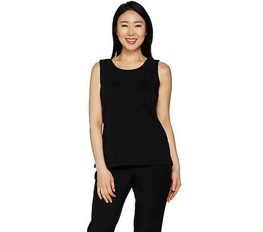 Joan Rivers Wardrobe Builders Scoop Neck Cotton Stretch Tank