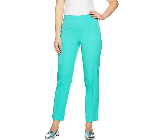 """As Is"" Isaac Mizrahi Live! Tall 24/7 Stretch Ankle Pants"