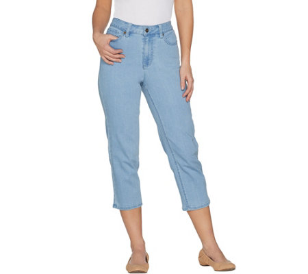 Denim & Co. Petite Perfect Denim Crop Length Jeans