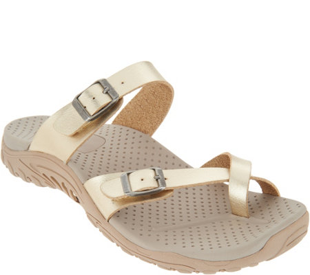 Skechers Metallic Double Strap Toe Loop Sandal - Wishlist