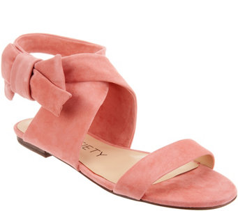 329cdc8cd5c Sole Society Suede Bow Sandals - Calynda - A305041