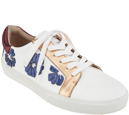 Vince Camuto Leather Lace Up Sneakers - Claudinia