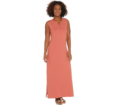 Denim & Co. Essentials Petite Sleeveless Knit Maxi Dress