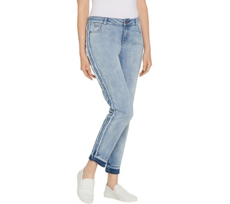 Peace Love World Reverse Tuxedo Stripe Jeans